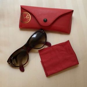 Ray-Ban Sunglasses Red Tortoise Wing